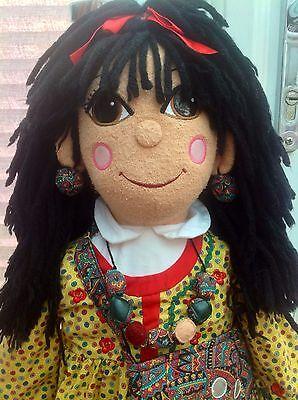 "Rosie & Jim Toy - 30"" Rosie Narrowboat Barge Canal Boat Beanie Rag Doll"