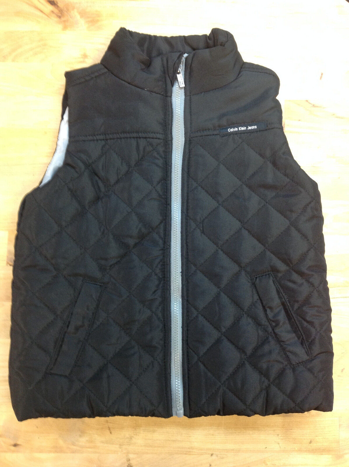 Calvin Klein Jeans Unisex Toddler's Vest, Black, Size 2T