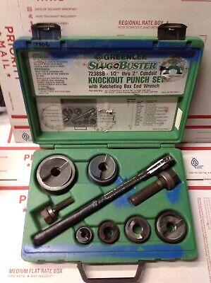 Greenlee Slugbuster 7238sb 12-2 Wratcheting Knockout Punch Set 7106