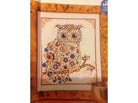 Fabulous Feathers Bead Owl By Shannon Wasilieff Cross Stitch Chart E