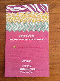 Clothing alterations and repairs, washing and ironing