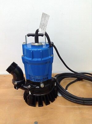 New Tsurumi Hs2.4s-62 Submersible 2 Sump Pumps Trash Water Waste Dewatering