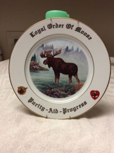 LOYAL ORDER OF MOOSE PLATE SPECIAL LIMITED EDITION