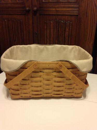 Medium Market Basket Liner from Longaberger Oatmeal Fabric