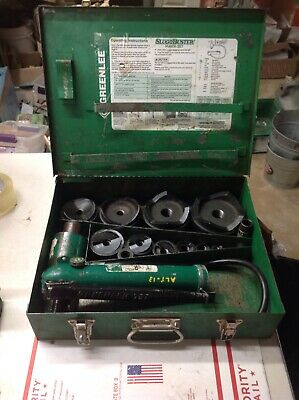 Greenlee 7310sb Hydraulic Pump Slugobuster Knockout Punch Set 12 Thru 4 7188