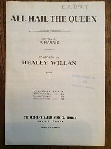Sheet Music: All Hail The Queen London Ontario image 1