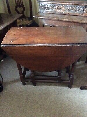 17TH/18TH CENTURY OAK GATELEG TABLE GOOD PRACTICAL SIZE!!!