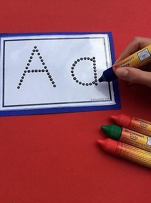 Montessori Dots Wir machen Fühlbuchstaben, Fühlzahlen, Formen zum Fühlen selbst!