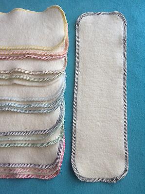 12 x 4 Hemp Organic Cotton Fleece Cloth Diaper Liners Doublers Inserts Soaker ()