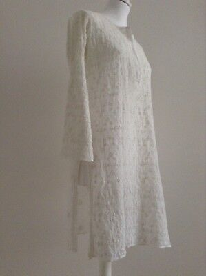 JULIET DUNN LONDON KAFTAN WHITE EMBROIDERED COTTON EXCELLENT CONDITION SIZE 1