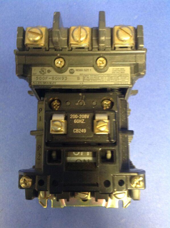 ALLEN BRADLEY STARTER SER.B 500F-BOH93