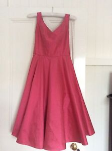 Pink Silk Cocktail Dress / Bridesmaid Dress / Formal Dress - size 8 Taringa Brisbane South West Preview