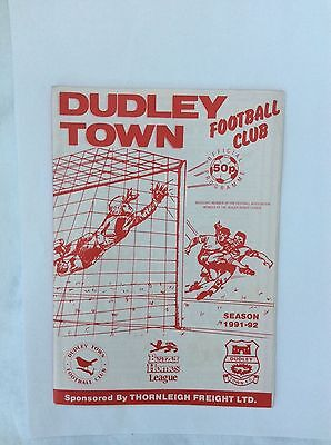 Dudley Town   V Bilston Town Beazer Homes Leauge December  1991