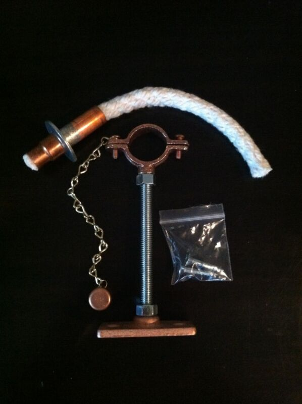 Copper Platted - Tiki Torch Wine Bottle hanging kit & Wick holder