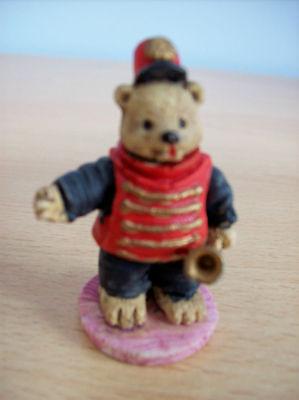 Ornament Ornamental Ted Teddy Teddie Bear Bandsman With Horn