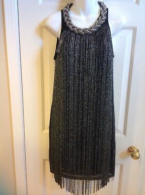 Roaring 20's Black with silver Fringe Party dance - Roaring 20s Kleid