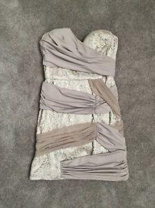 Bebe Silver Dress XS