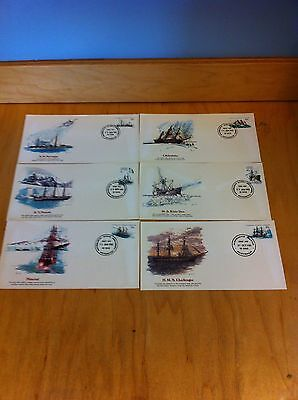 AUSTRALIAN ANTARCTIC 1979-82 set of 16 Ships Fleetwood First Day Cover ~F1-L42 *