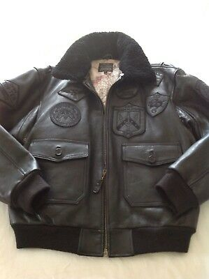 Avirex G1 Flight Jacket In Black With Blackout Stealth Badges Large New, used for sale  Shipping to Ireland
