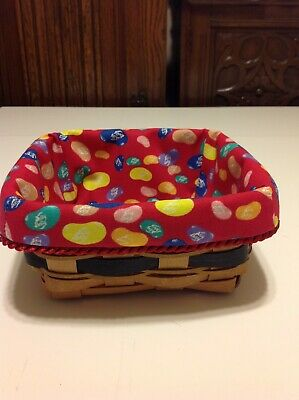 Easter Large Berry Basket Liner from Longaberger Jelly Belly Fabric