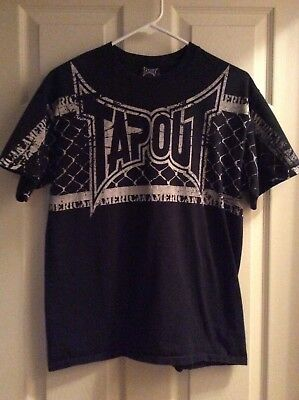 Tapout MMA Black T-Shirt Size Medium