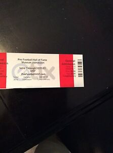 1-4 NFL Hall Of Fame Museum Admission Tickets