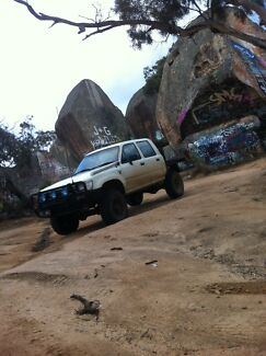 Toyota hilux 4x4, lifted, mud tyres, custom tray, swap Melton South Melton Area Preview