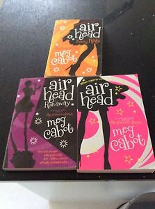 3 Air Head Books By Meg Cabot Forrestdale Armadale Area Preview