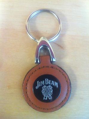 Jim Beam Whiskey Leather Key Ring - Nice Quality - New  & Free Shipping