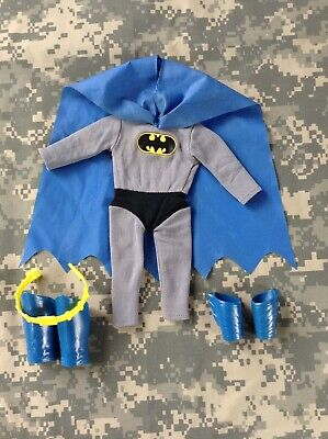 Vintage Mego 12 inch BATMAN Outfit with Cape, Belt, Arm and Boot Cuffs - 1978