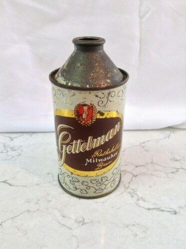 Gettelman Cone Top Beer Can