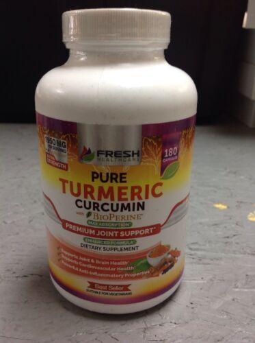 TURMERIC CURCUMIN BioPerine 180 Capsules by Fresh Healthcare