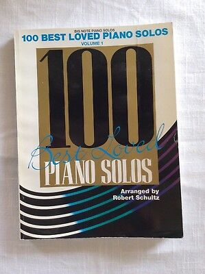 100 Best Loved BIG NOTE Piano Solos Volume 1 arranged by Robert