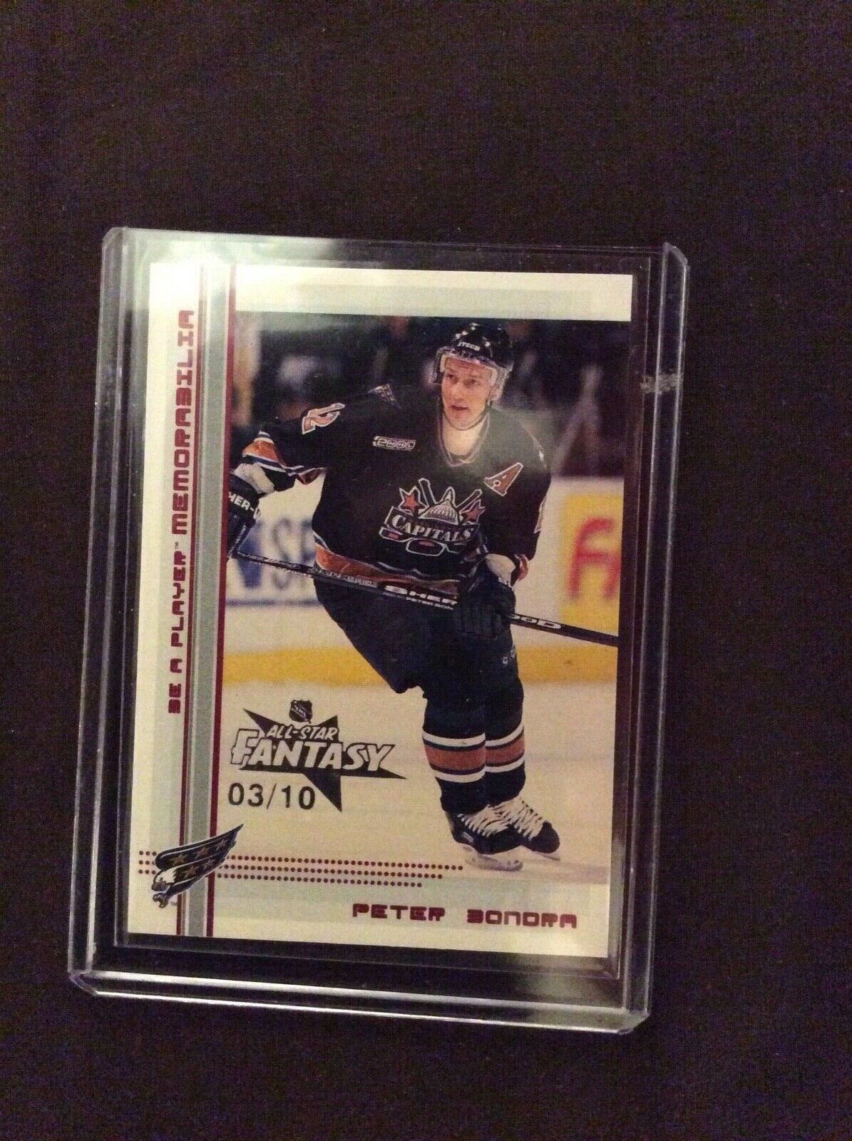 Image of 00 01 UD Be A Player Peter Bondra All Star Fantasy Expo Parallel 3 10