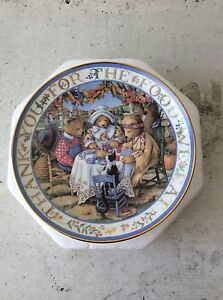 """Royal Doulton Franklin Mint """"Thankful Teddies"""" Collector Plate New Farm Brisbane North East Preview"""