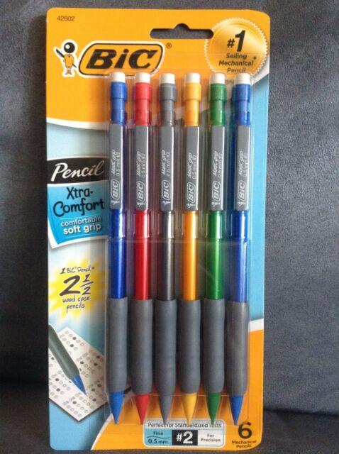 0.5 mm Assorted Barrel 6 count BICMPFGP61 BIC Mechanical Pencil Xtra Comfort