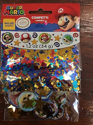 Super Mario Party Supplies decorations Confetti mix 1.2oz.](Super Mario Party Decorations)