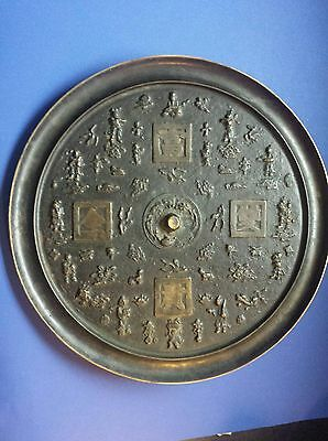 old chinese bronze mirror Dynasty -16-inch and 13-bd
