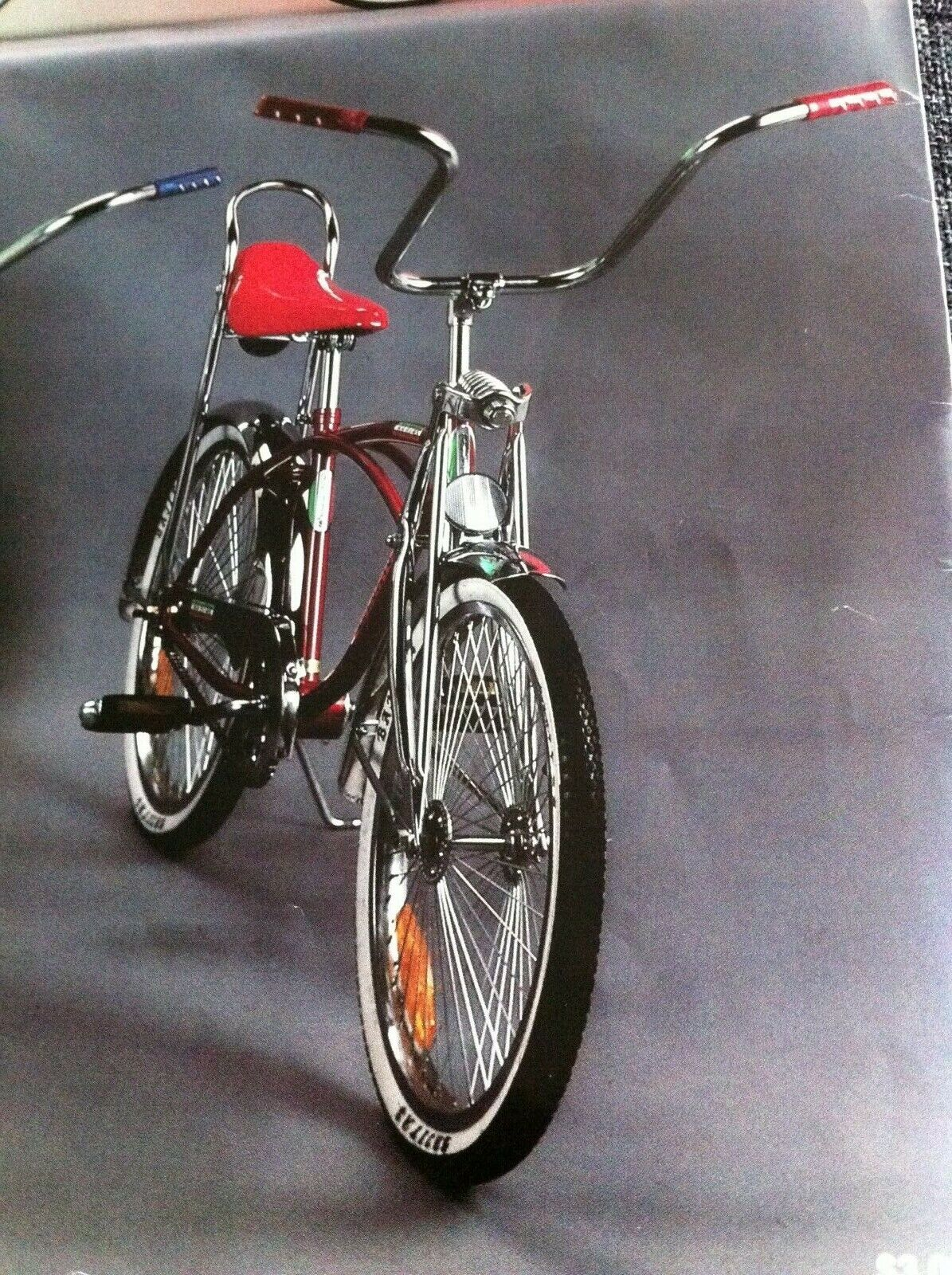 """New 20"""" Lowrider Bike Red with 68 Spokes"""