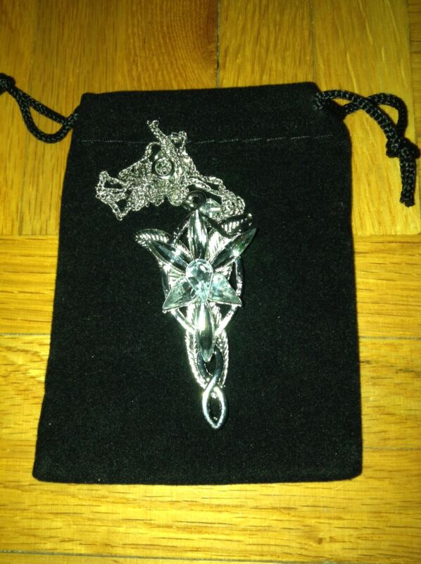 LOTR Lord of the Rings Arwen Evenstar Pendant/Necklace with Pouch
