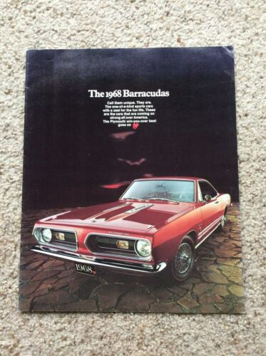 1968  Plymouth  barracuda,  original deluxe color sales catalogue.