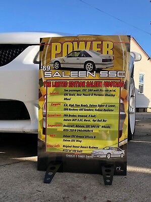 Car Show Disclose Sign Board Foamboard Backing w/Stand Any Make  Christmas Gift