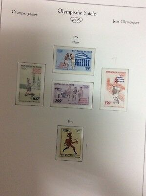 Munich Olympic Games 1972. Niger 2 sets and sheet+Peru stamp