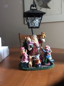 Christmas candle lamp scene