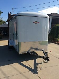 2016 enclosed trailer with ramps side door