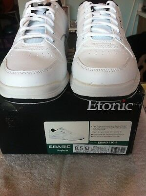 Etonic Kegler II bowling shoe, White with Black trim, Size 8.5, Universal sole