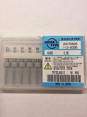 3.35 Mm Inverse Drill Bit Id30c Union Tool 3.175mm Shank 10 Pcs Cnc Router Pcb