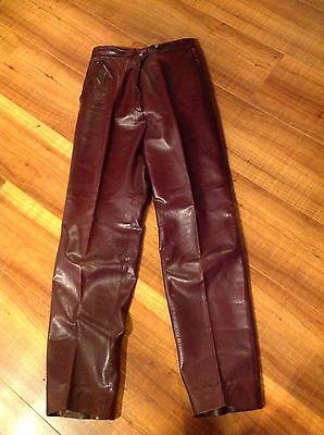 vintage amphiboles brown high waist leather pants motorcycle sz 36 boho  Rare