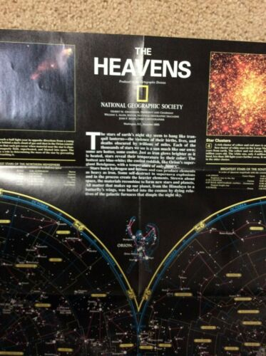 National Geographic poster The Heavens & Orion Nebula  1995