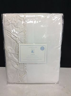 Pottery Barn Kids Lucy Velvet Ivory Lined Drapes Curtains Panels 50x84 blackout - Ivory Lined Curtains